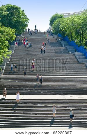 Potemkin Stairs In Odessa City