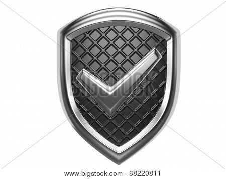 Accept Sign On A Shield