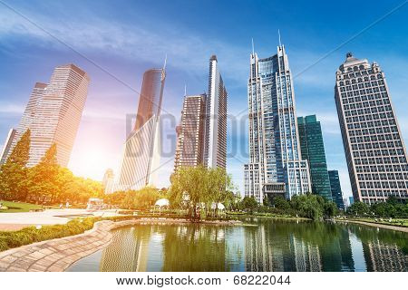 Park And Skyscrapers
