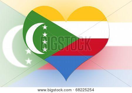 The Comoros Flag Heart