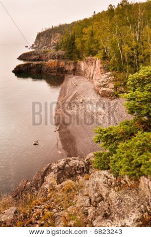 Shoreline North Of Split Rock Lighthouse