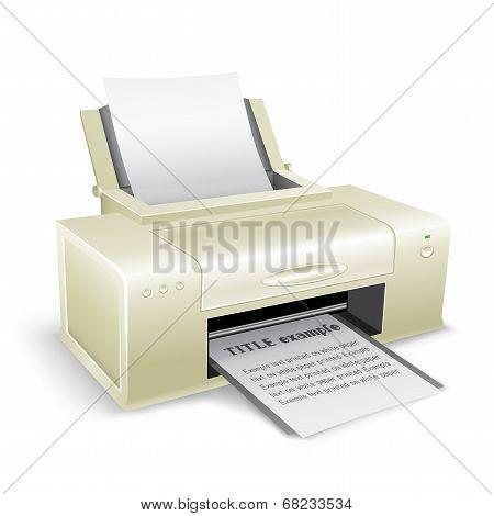 white printer