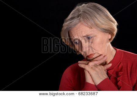saddest older woman