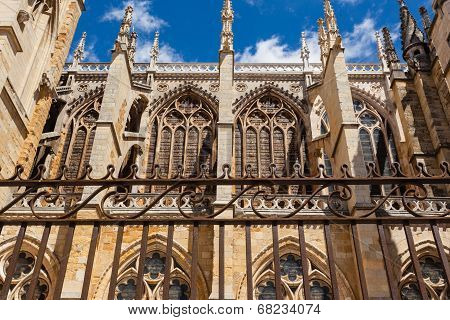 Flying Buttresses Detail In The Cathedral Of Leon Spain