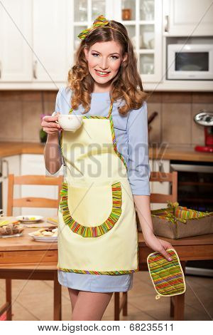 Sexy Woman In The Kitchen
