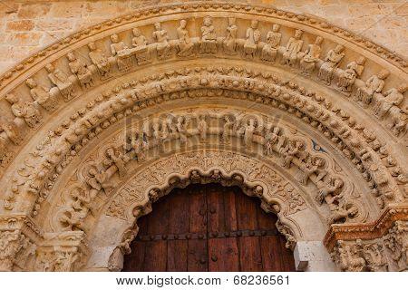 Romanesque Archivolts In Toro Collegiate Church