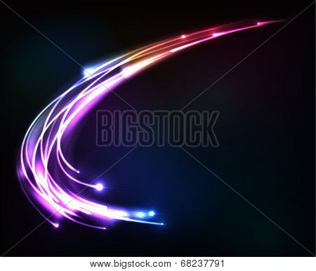 Colorful shining cosmic vector lights