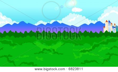 Cartoon vector background