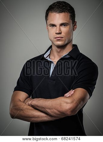 Handsome man wearing polo shirt