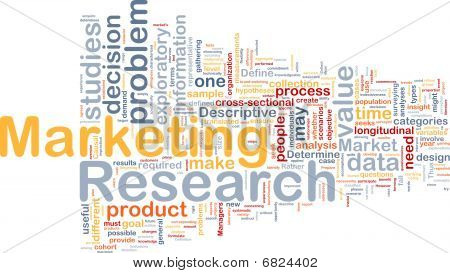 Marketing Research Hintergrund Konzept
