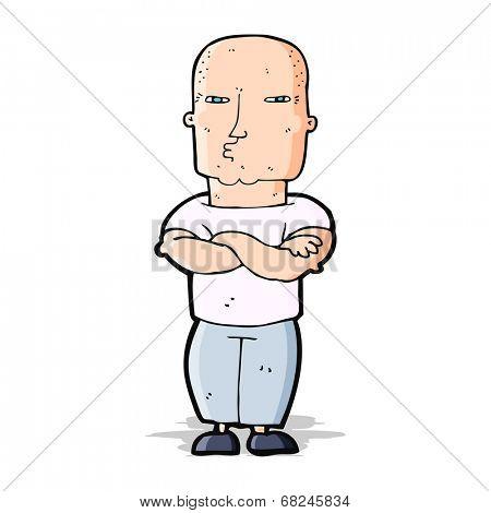 cartoon tough guy