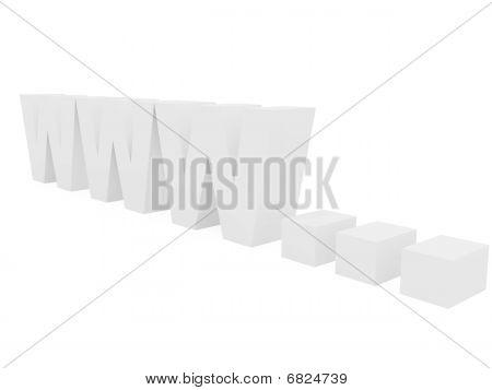 3D Www Letter