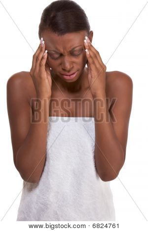 Young Attractive Woman Suffering From Headache