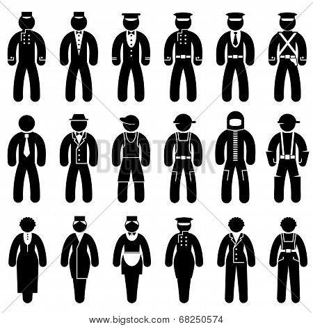Peoples uniform icons