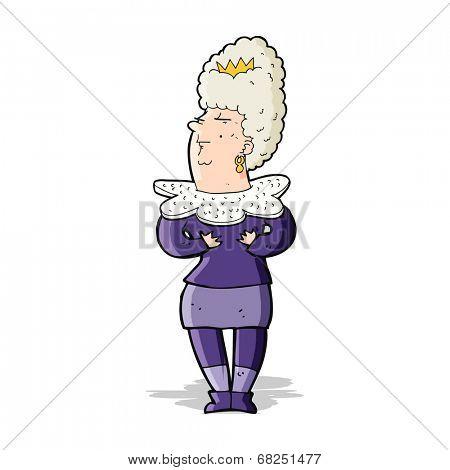 cartoon aristocratic woman