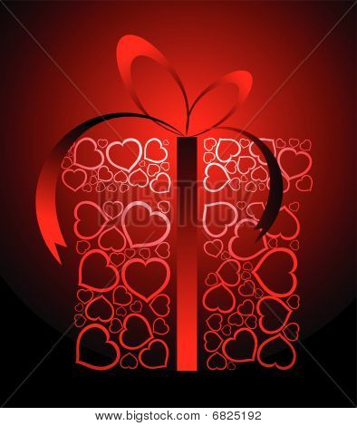 Stylized Love Present Box