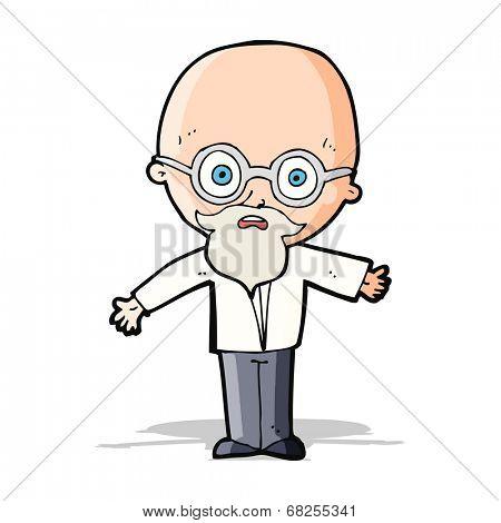 cartoon genius scientist