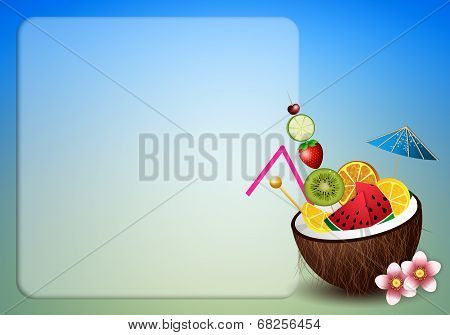 Coconut With Fruits For Aperitif
