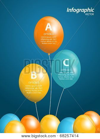 Colourful Balloons Info graphic