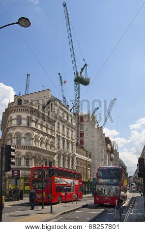 Erecting new office and apartment buildings