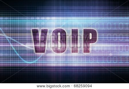 VOIP on a Tech Business Chart Art