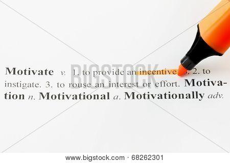 Motivate With An Orange Highlight Marker Pen