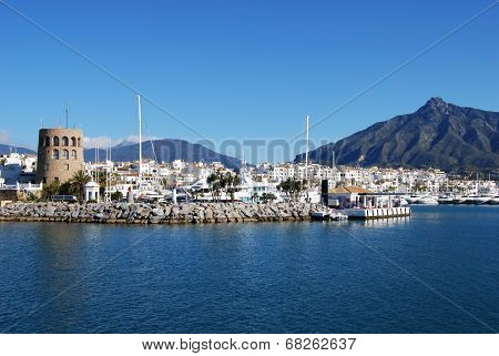 Harbour entrance, Puerto Banus.