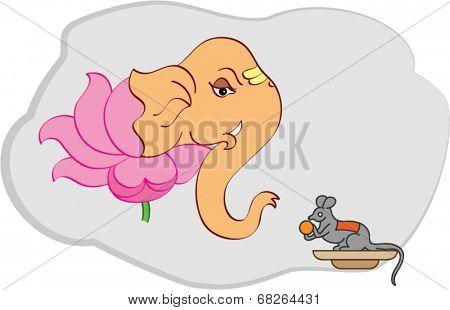 Ganesha with Lotus