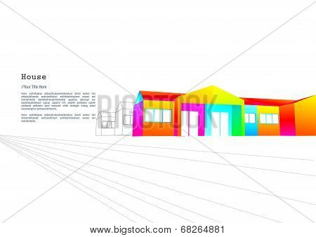 Colourful single storey terrace