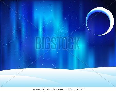 Northern lights (Aurora) on iceland