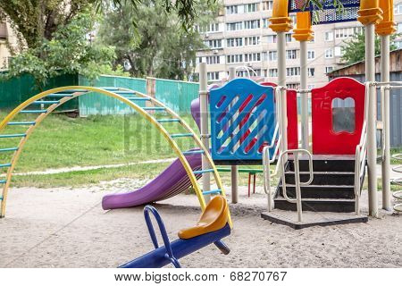 Children Playground In Residential Neighborhood