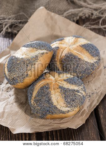 Homemade Poppyseed Buns