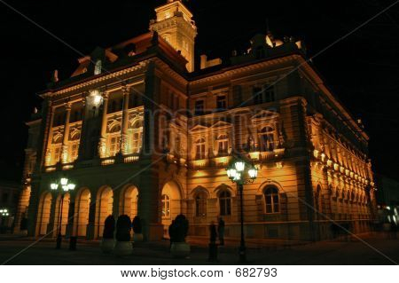 City Hall By Night