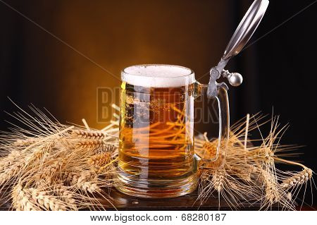 Mug Of Beer On A Chest