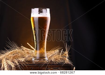 Glass Of Beer On A Chest