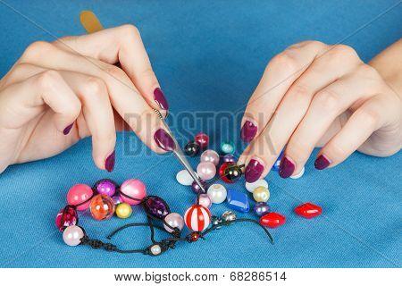 Handwork. Making Jewelry