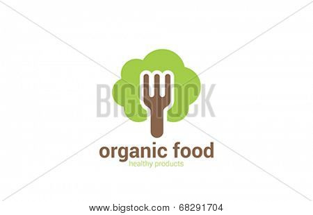 Organic Health Food products vector logo design template.Green Healthy Life concept icon.
