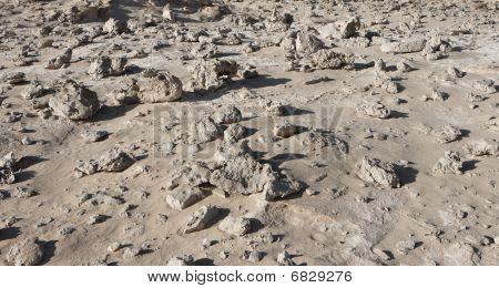 Stein-Feld in der Wüste ähnlich moonscape