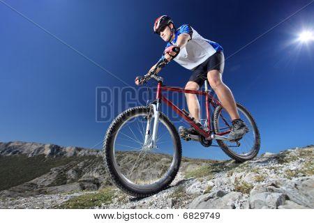 Riding a bike down style