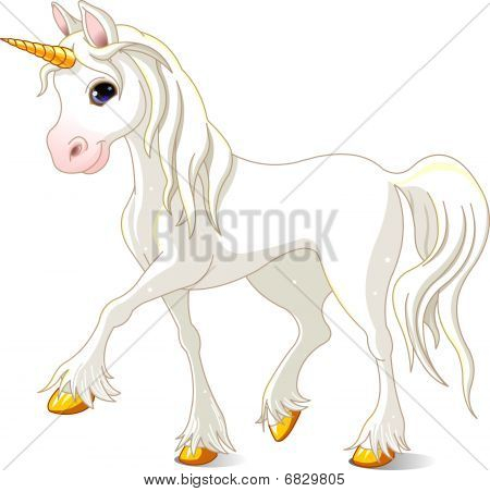 Beautiful White Unicorn