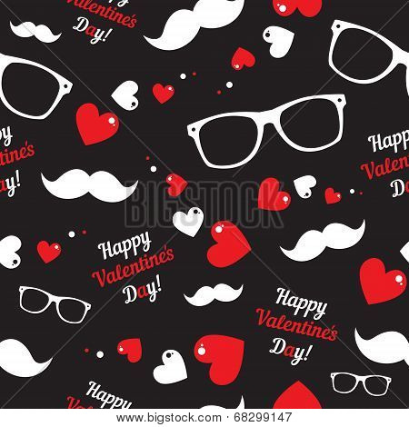 Hipster symbols. Valentine's Day background.