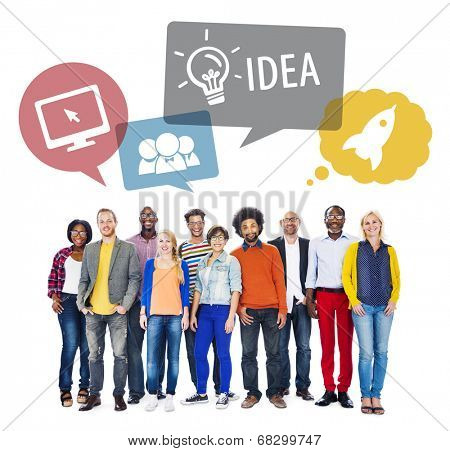 Diverse People and Idea Concept