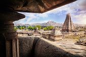 picture of karnataka  - Virupaksha temple view in Hampi Karnataka India - JPG