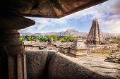 pic of karnataka  - Virupaksha temple view in Hampi Karnataka India - JPG