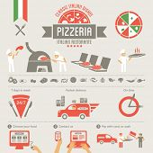 stock photo of italian food  - Pizza elements - JPG