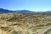 stock photo of mule  - Twenty Mule Team Canyon Road Death Valley National Park - JPG