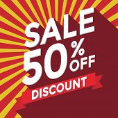 stock photo of year end sale  - Sale 50 percent off discount vector eps10 - JPG