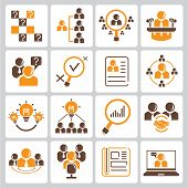 picture of human resource management  - set of 16 human resource - JPG