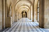 stock photo of chateau  - Corridor of Versailles Chateau Palace Paris France - JPG
