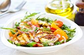 picture of rocket salad  - Grilled Halloumi with PomegranateOrange and Rocket salad - JPG